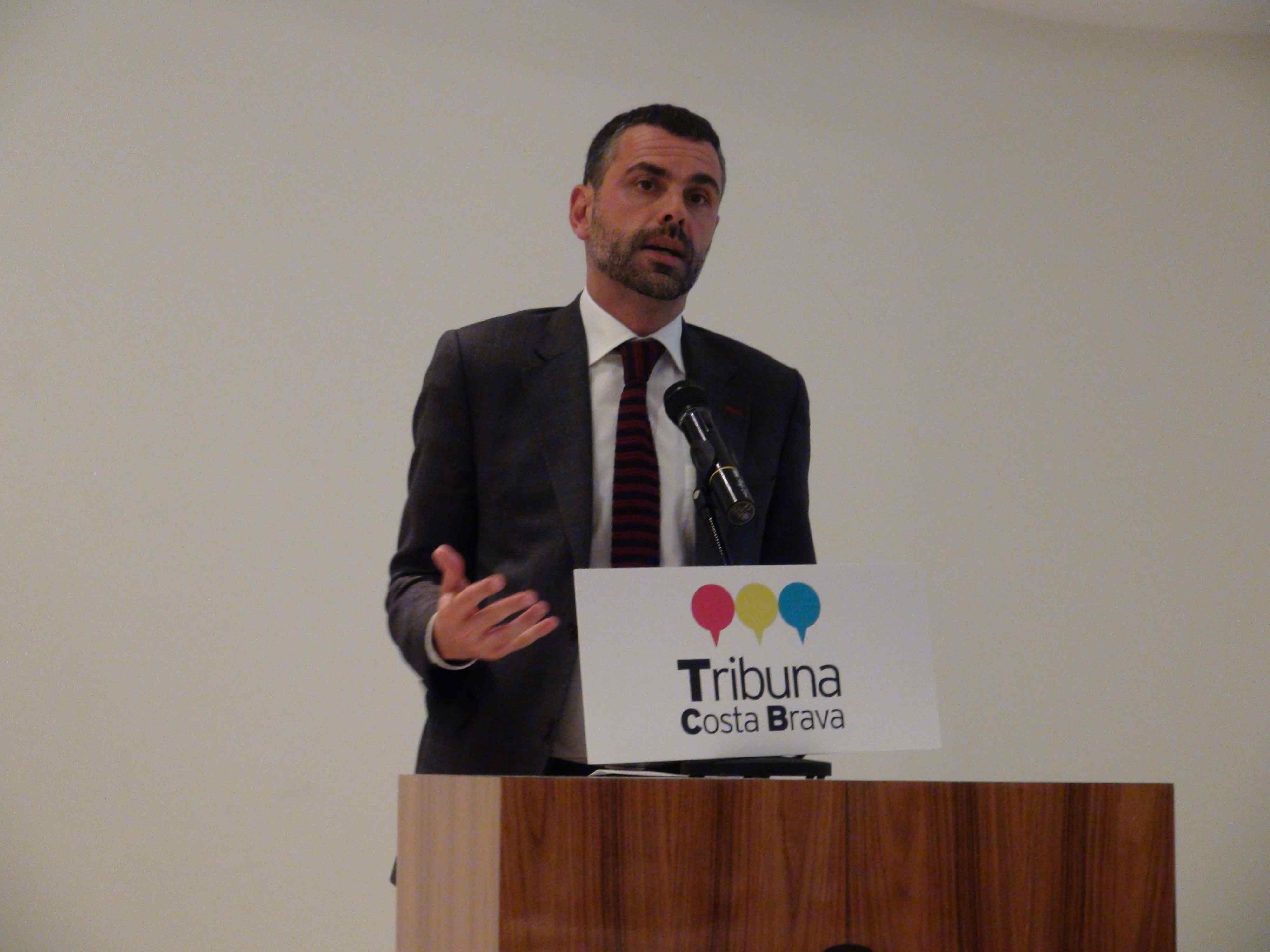Santi Vila, consejero de Territorio y Sostenibilidad, en la Primera Tribuna Costa Brava